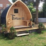 Outdoor Garden Wooden Sauna Iglu Design UK