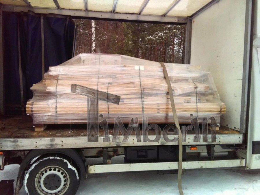 igloo sauna transporting