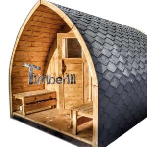 Udendørs sauna i træ til haven Igloo design