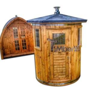 Pionowa sauna do niewielkich ogrodów