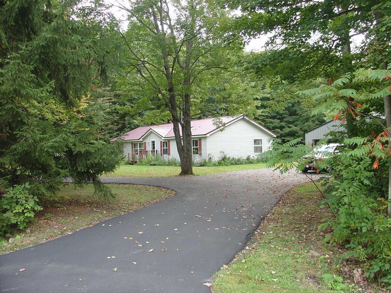 from end of driveway