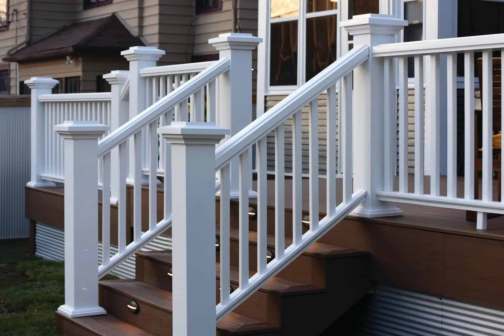 How To Install Timbertech Deck Railing Timbertech   Exterior Stair Railings Near Me   Stair Treads   Porch   Front Porch   Porch Railing   Railing Ideas