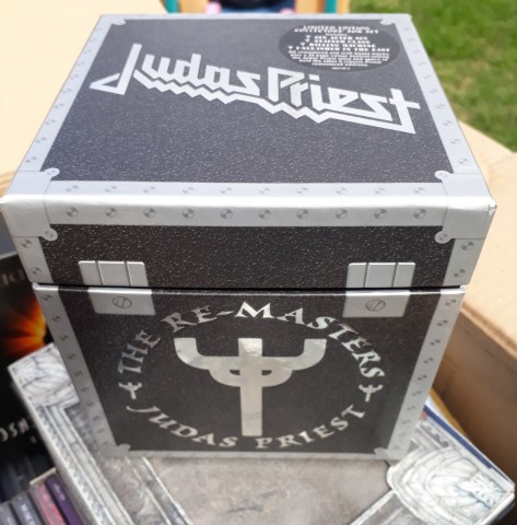The box for the Judas Priest Remasters Boxed Set