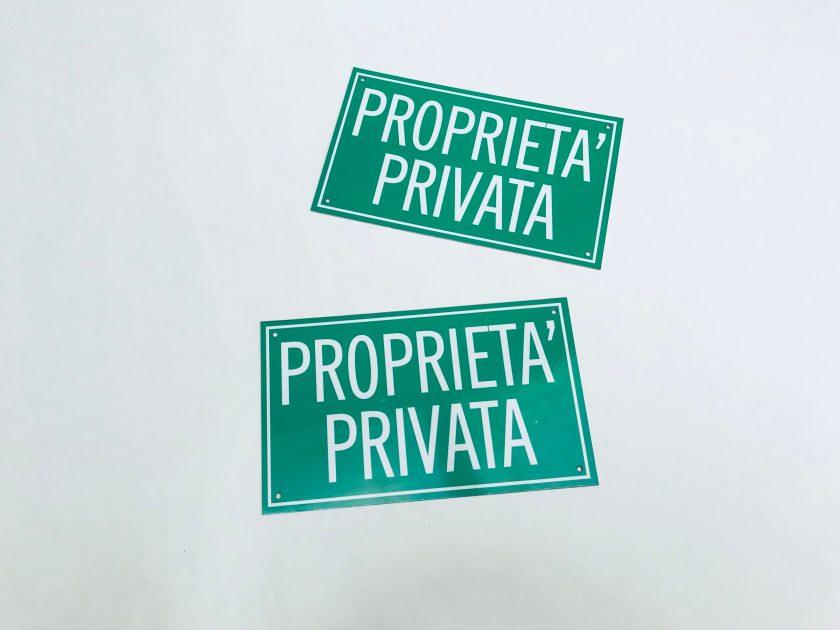 CARTELLI PERSONALIZZATI - TIMBRIFICIO TIPOGRAFIA GRAFICA NOVARESE