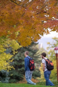 students on denver campus