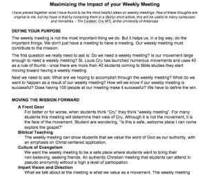 weekly meeting article snapshot
