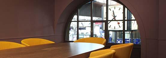 Konferenzräume  Sitzungszimmer Time Lounge Bar Restaurant Zürich Hauptbahnhof