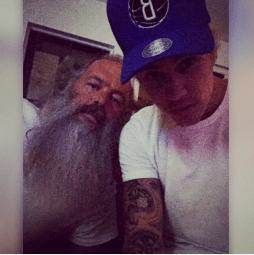 Justin Bieber and Rick Rubin