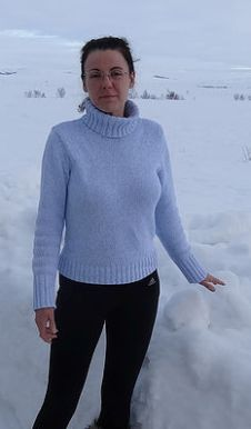 Patricia Smith in the snow