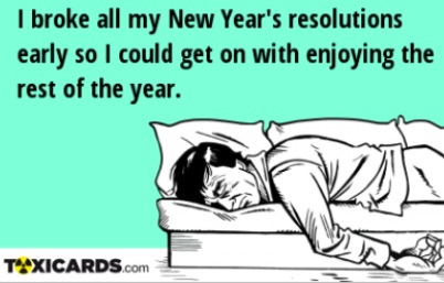 Broken new years resolutions