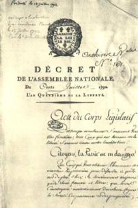 Decree in 1792 Mantes
