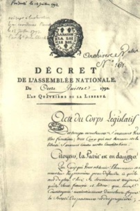 Decree in 1792 Mantes