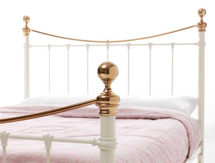 suzie ivory brass bed frame