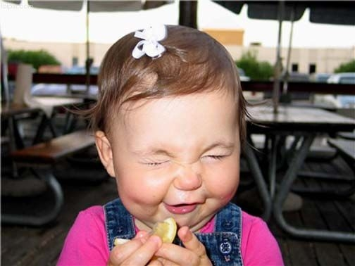 Wedding Time Capsule photo with Baby eating Lemons