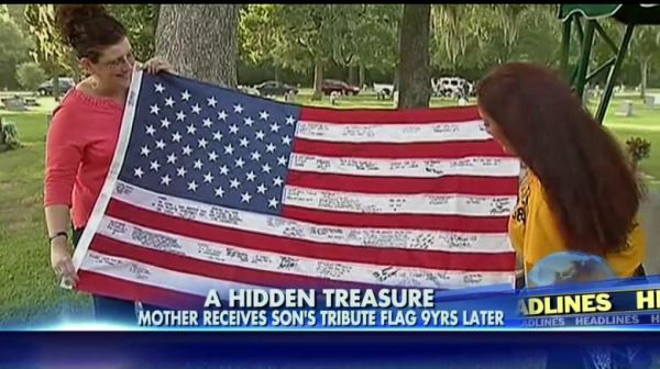 Flag tribute to Marine's Mother