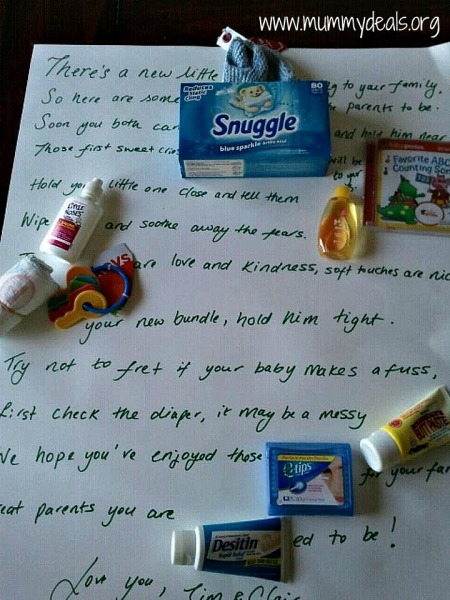 Unique Baby Gifts - Baby Shower Poem