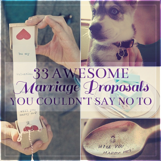 Awesome Marriage Proposal Ideas
