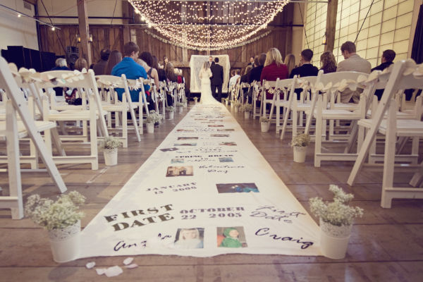 Wedding Budget Aisle Runner with Photos