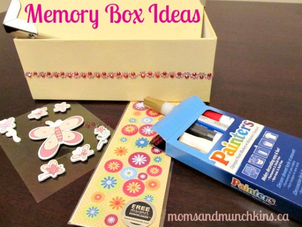 Decorating a Memory Box - Cardboard Keepsake
