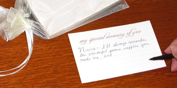 Funeral Keepsake - Note