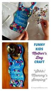 Mother's Day Gifts from Kids - Door Hanger