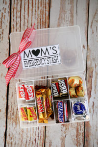 DIY Gift Ideas - Mothers Secret Candy Stash
