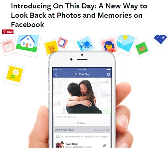 Facebook Time Capsule - New App