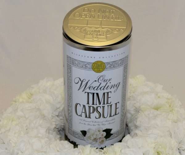 Wedding Time Capsule with Flowers