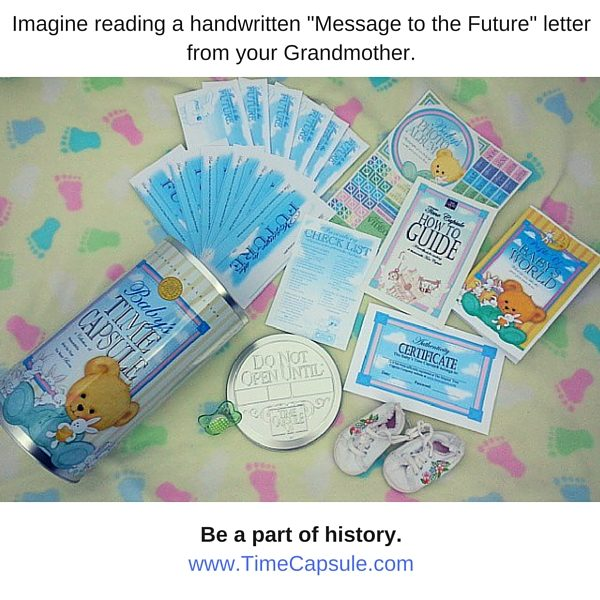 Letters to the Future with a Baby Time Capsule