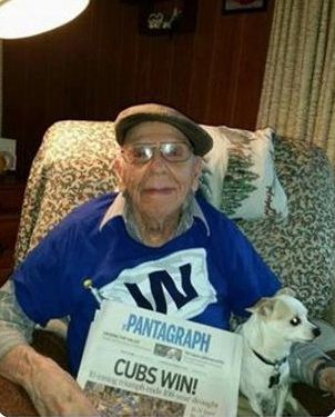 Cubs Time Capsule Moment - Grandpa holds Newspaper