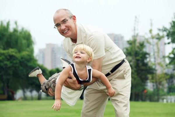 Digital Free Weekend - Grandpa Playing Airplane with Kid