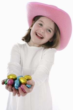 Easter Memories - Girl with Chocolate Eggs