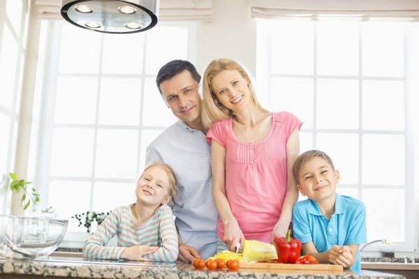 Family Habits - Family making healthy food
