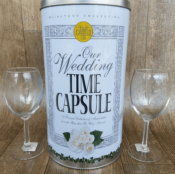 Power of Touch - Wedding Time Capsule with Wine Glasses