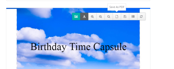 How To Make a DIY Time Capsule - 10 - Save as PDF and Print on Photo Paper Included in Time Capsule