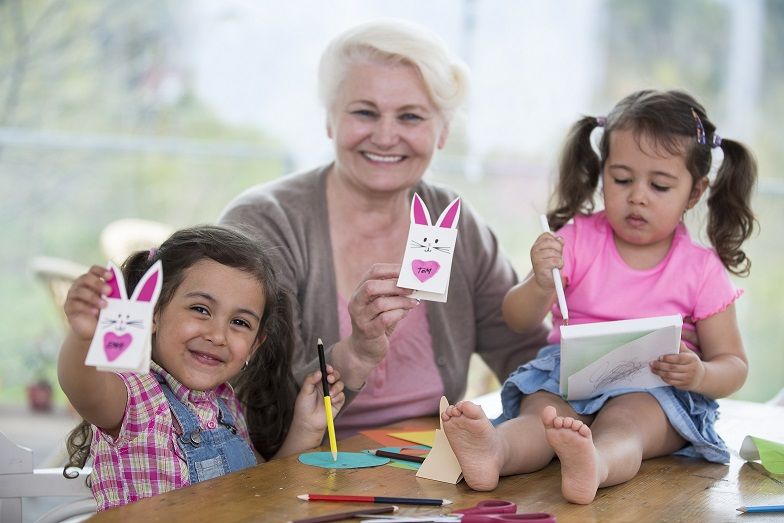 Important Life Lessons - Grandmother making Crafts with Grandkids