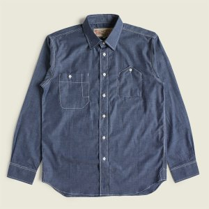 Vintage Denim Chambray Cigarette Pocket Work Shirt