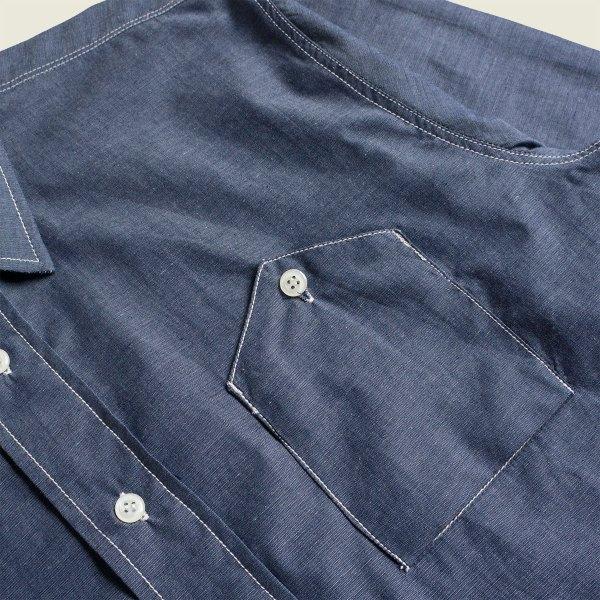 Vintage Denim Chambray Cigarette Pocket Work Shirt