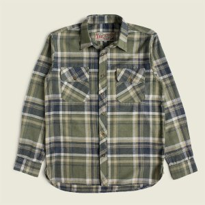 Vintage Workwear Flannel Checked Work Shirt