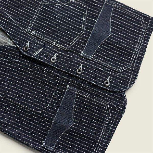 Stifel Indigo Vintage Workwear Wabash Striped Railroad Vest