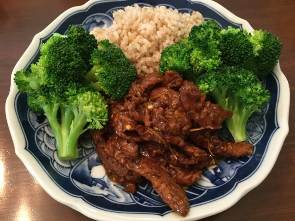 """Soy Curl Orange """"Beef"""" with Broccoli"""
