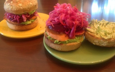 Danielle's Rainbow Burger: An Extraordinary Fusion of Textures, Flavors, and Colors In A Bun!