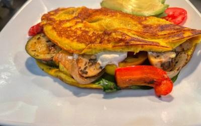 Egg Free Veggie Omelette