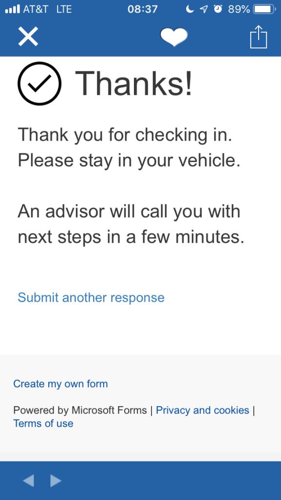 Tesla Service Registration Complete