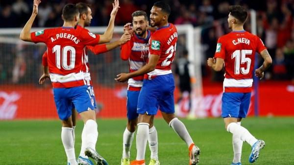 Celebración del gol de Vadillo