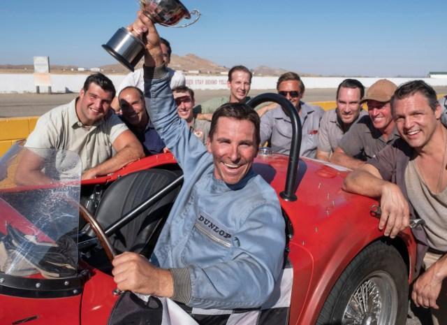 Ken Miles (Christian Bale) en el circuito de Le Mans durante el rodaje de la película - Fuente- Disney Company