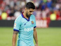 Suárez abatido en el partido frente al Granada CF