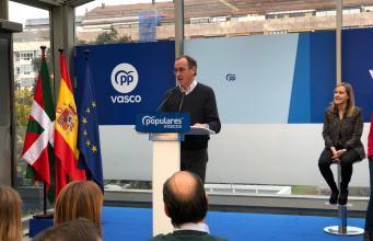 Alfonso Alonso en un acto electoral en Vitoria - PP Vasco