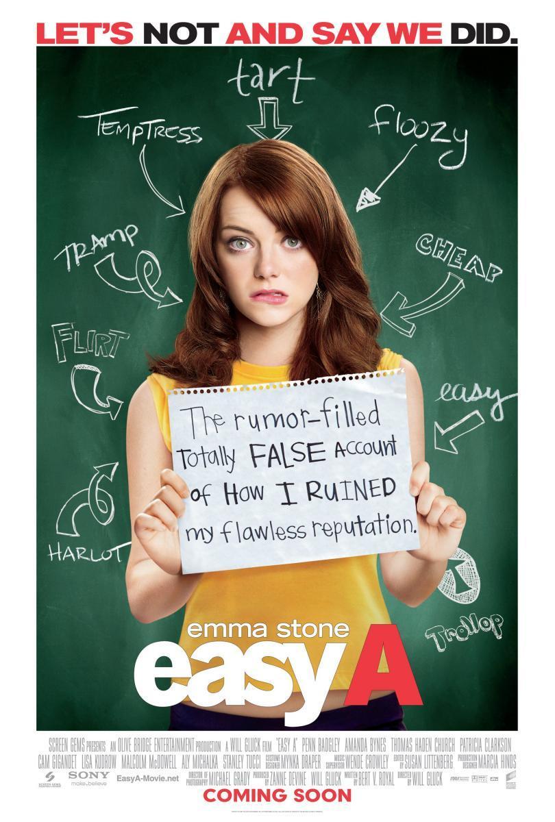 """Póster película """"Easy A"""""""