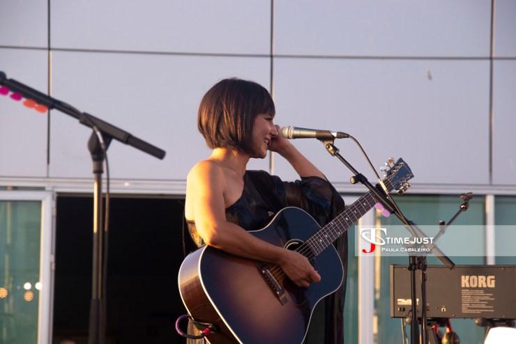 Eva Amaral emocionada en el Festival TerraCeo de Vigo // Foto: Paula Cabaleiro
